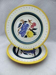 Stangl-Pottery-set-of-2-Dinner-plates-Fruit-pattern-10-034-VGC