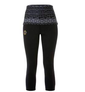 NWOT-Zaggora-Neoprene-Atomica-Foldover-Crop-Pants-Celu-Lite-Technology-XS-Black