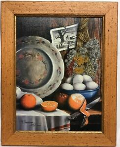 H-Hargrove-Kitchen-Still-Life-Serigraph-Approx-15-1-2-X-19-Framed-157-1500