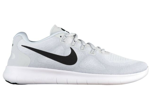 30a15e1a21594 Nike Free RN 2017 Mens 880839-101 Platinum White Knit Running Shoes Size 9