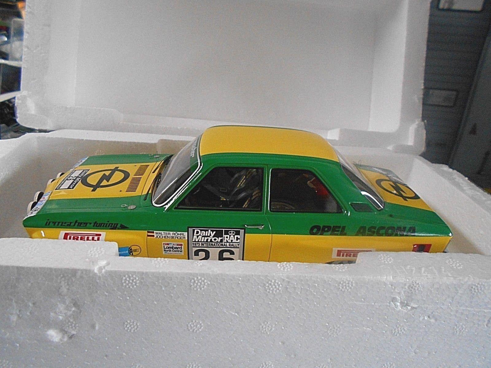 OPEL OPEL OPEL Ascona A Rallye RAC GB 1974 Röhrl Berger Irmscher Bos N 18 a277ba