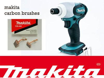 Makita 18V LXT Genuine CARBON BRUSH SET CB-440 for Impact Driver//Hammer Drill