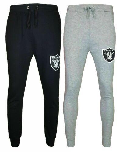 Oakland Raiders Tracksuit Pants Mens S M L NFL Jersey Jog Bottoms