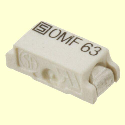 2 PCs 3402.0011.11 Schurter SMD fusible Fuse Flink omf63 63v 1,6a #bp