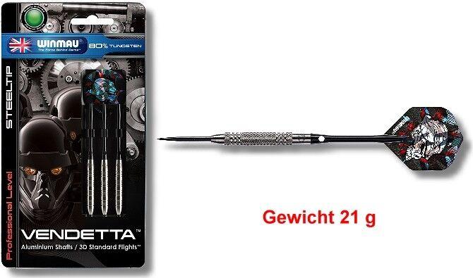 Steeldart Steel Flechas Dardos Winmau Vendetta 21G - Juego  de 3  muchas sorpresas