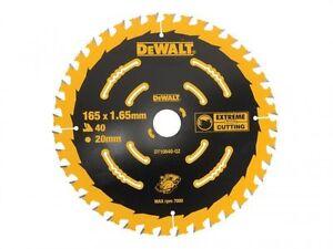 Dewalt Dt10640 Extreme Sans Fil 165 Mm X 20 Mm Scie Circulaire 40 Dents Lame Dcs391-afficher Le Titre D'origine