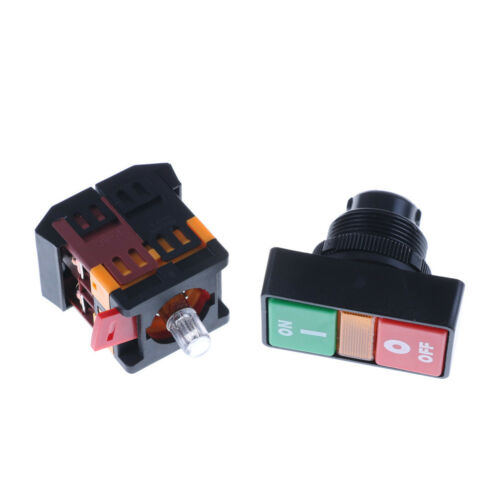 ON OFF START STOP Push Button  Light Indicator Momentary Switch Red Green JE KY