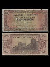 BILLETE 50 PESETAS – 20 MAYO 1938 – BURGOS – BC- //1586// - INVERSO