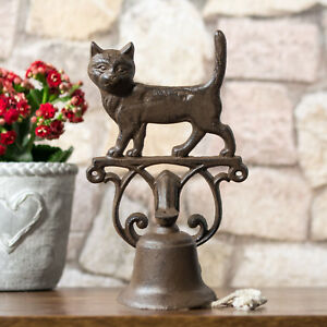 Details About Traditional Vintage Cat Cast Iron Front Back Door Bell Wall Mounted Hanging Gift