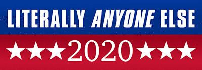 EvolveFISH Literally Anyone Else 2020 Bumper Sticker 11 x 3