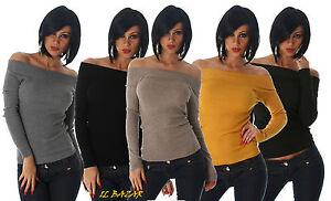 maglia-t-shirt-costine-scollatura-barca-ampia-5-colori-taglia-unica