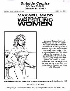 MAXWELL MADD AND HIS WRESTLING WOMEN #2 SEPT 1989 RETAILER PROMO FLYER