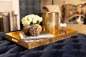 Remarkable Details About Gold Extra Large Lacquered Rectangular Coffeetable Ottoman Serving Tray 71X46 Cm Ncnpc Chair Design For Home Ncnpcorg