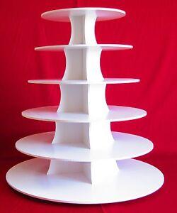 White Cupcake / Dessert Stand 6 Tier Round
