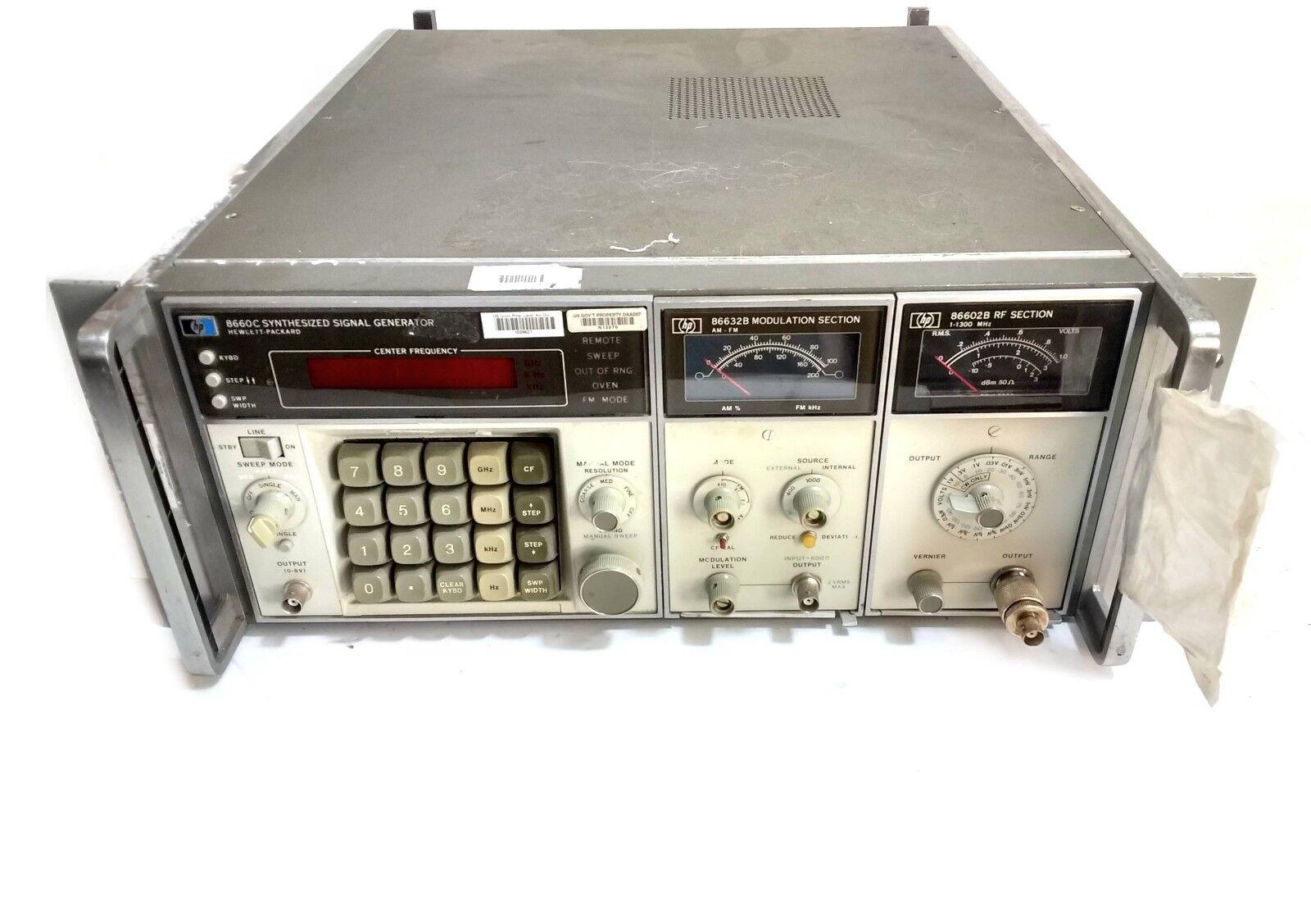 HP signal generator, Hp 8660C, AM/FM signal