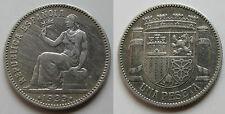 II REPUBLICA ESPAÑOLA , 1 PESETA DE 1933 ESTRELLAS 3 - 4 . PLATA