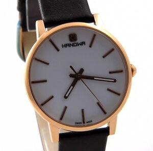 HANOWA-LUNA-Damen-Uhr-16-4037-09-001-Herren-Slim-Edelstahl-Leder-UVP-149-00-NEU