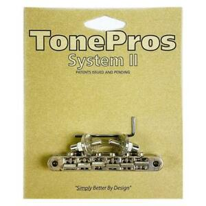 TonePros ABR1 Nashville Tune-O-Matic Bridge Aged Nickel NVR2-AN