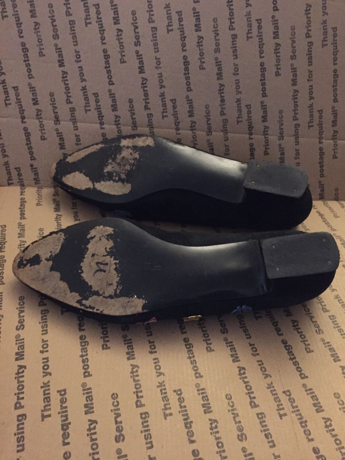 Vintage Margaret J loafer suede schwarz embellished patch novelty smoking loafer J  8.5M 210d50