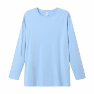 Sky-Blue-Mens-Long-Sleeve-Bamboo-Blend-UPF-Protection-Shirt
