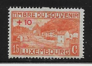 LUXEMBOURG-Stamps-B2-SP1-15c-10c-Mint-H-1921-Semi-Postal-OG