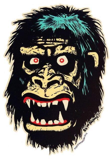 Go Go Gorilla STICKER Monstilla Decal Ben Von Strawn BV40