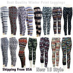 Womens Ladie New Quality Fashion Aztec Print Leggings//Pants 2 COLOURS