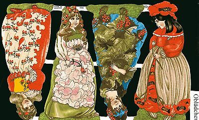Wunderschön Selten Schnelle WäRmeableitung 70er Jahre Blumenmädchen Billiger Preis # Glanzbilder # Mlp 1705