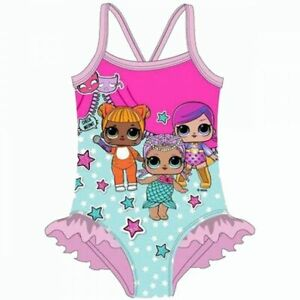 Bikini Swimsuit 2 Pieces Sea Swimming Pool Characters Cartoons LOL Surprise Girls Original Product with Official Licensed
