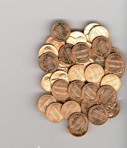 5 ROLLS  1982 D  LINCOLN CENT ROLLS 250 BRILLIANT  PENNY COINS