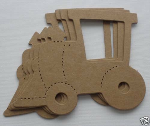 4 *TRAIN* Bare Unfinished Chipboard Die Cuts