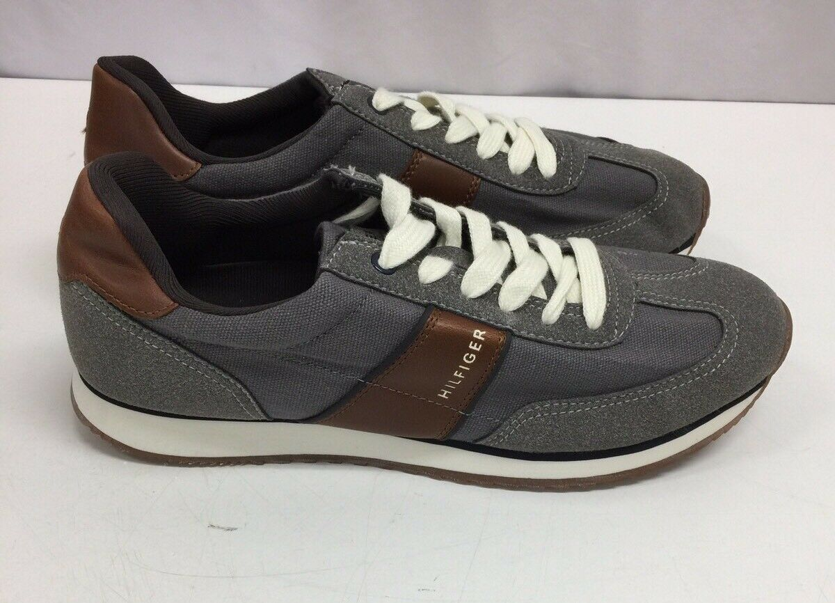 Men's Tommy Hilfiger Modesto Gray Casual Shoes, Size 9.5 M