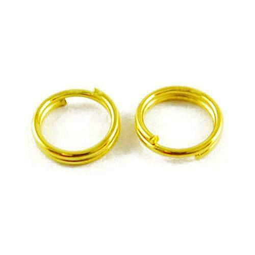Packet 750 Antique Gold Plated Iron Round Split Rings 0.7 x 4mm HA12115