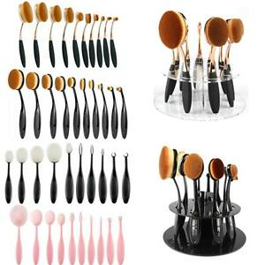 10-Pro-Toothbrush-Cream-Power-Foundation-Puff-Oval-Circle-Linear-Makeup-Brushes