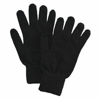 Croft & Barrow Men's One Size Black Knit Texting Ribbed Gloves $20