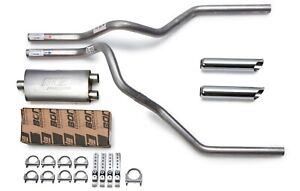 """07-15 Ford F150 F250 Truck 3/"""" Single Exhaust Kit Flowmaster 40 Series Chrome Tip"""