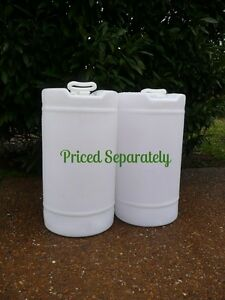15 GALLON white plastic Barrel Drum Container FOOD GRADE water fuel
