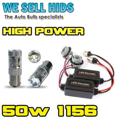 2 x P21W 1156 CANBUS NO ERROR Resistors 50w CREE LED AUDI RS4 DRL S3 daytime