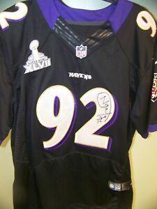 Details about Haloti Ngata Autographed Baltimore Ravens Purple/Black Jersey SB XLVII Patch