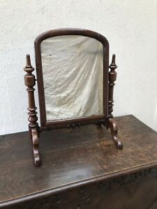 Details About Antique Mahogany Victorian Dressing Table Mirror Toilet Vanity Swing