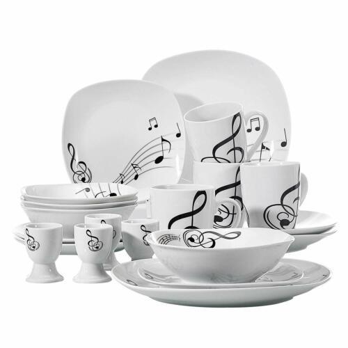 20 pièces en porcelaine complet bols en faïence Combi Set assiettes bols tasses Melody