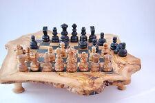 XXL Schach Schachbrett Schachtisch Schachspiel aus Olivenholz ca. 50x50cm