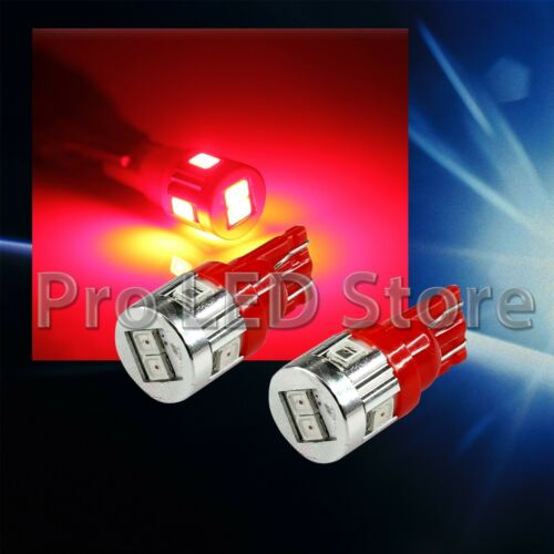 T10 High Power LED 2835 6smd Chips Bright Red Light Car Interior Plate