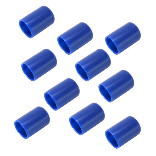 "5/"" Inner Diameter Blue 10x Pool Billiard Cue Tip Rubber Protectors Covers"
