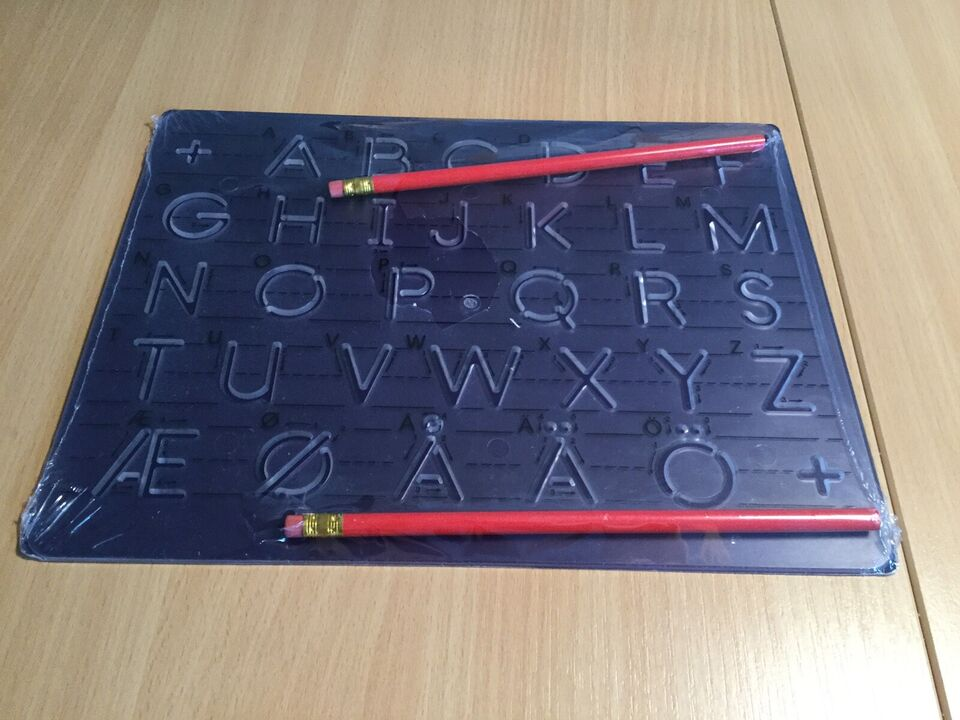 Tegne/male, Stencil - lær at skrive bogstaver