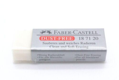 grau FABER-CASTELL Kunststoff-Radierer DUST-FREE