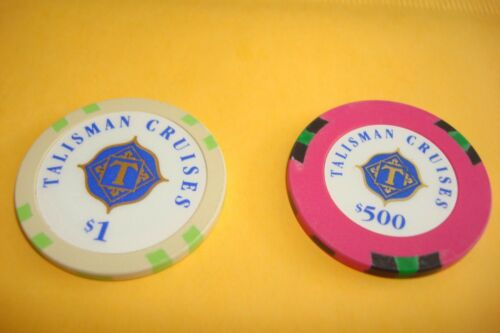Talisman Cruises $ 500  /& $ 1.00 Casino Chips