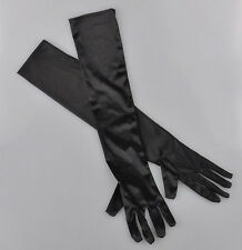 1Pair Satin Long Stretch Gloves Wedding Bridal Evening Party Prom Costume US