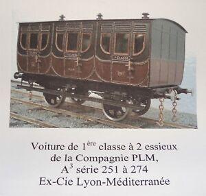 Amical Voiture De 1ère Classe Plm 1850 Petits Trains De France échelle O