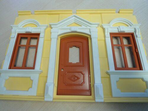 """2 /""""  gebraucht Playmobil Ersatzteil 5301  /""""Wand mit Fenster//Tür"""
